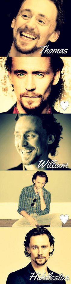 Thomas William Hiddleston!!!!!! <3
