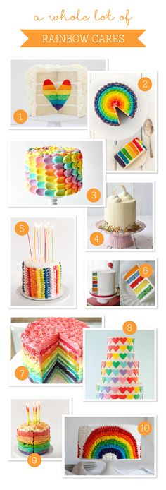 A Whole Lot of Rainbow Cakes - 10 Amazing Rainbow Cakes from Tinyme