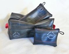 Mens' Toiletry Bag Gift Set - Dopp Kit - Recycled Bike Tube