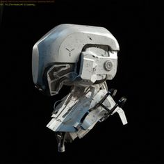 ArtStation - helmet, 3D art by Mark Chang/concept by Ching YehMore robots here.