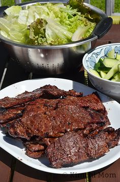 Galbi Gui (Korean Beef Ribs) and Grilling Tips - kimchi MOM ™
