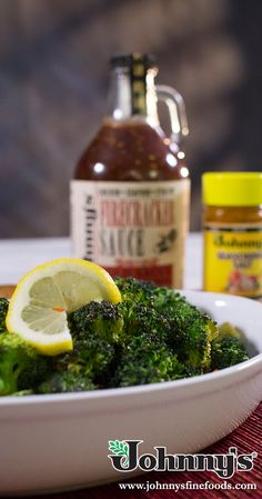 Broccoli with our Firecracker sauce will make the perfect snack or side dish! Copycat Recipes, Sauce Recipes, Firecracker Sauce, Skillet Bread, Artichoke Dip, Bread Rolls, Seaweed Salad, Broccoli, Side Dishes