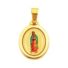 14K Yellow Gold Religious Our Lady of Guadalupe Enamel Picture Charm Pendant The World Jewelry Center. $79.00. Simply Elegant. High Polished Finish. Promptly Packaged with Free Gift Box and Gift Bag. Save 61%!