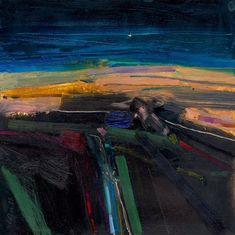Peter Iden Artist: On the Downs after Sundown Oil on Board Estate of Peter Iden Number 59 Landscape Artwork, Abstract Landscape Painting, Seascape Paintings, Abstract Art, Oil Paintings, Great Paintings, Amazing Art, Contemporary Art, Art Photography