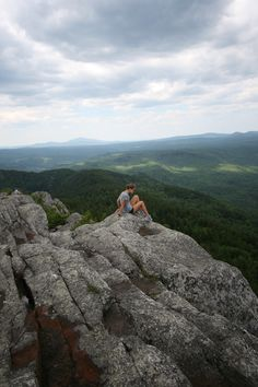 Hiking Borestone Mountain in Maine.