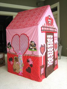 Chocolate Heart Candy Box Playhouse  On Etsy.com. I love making these!
