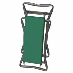 """Folding garden kneeler with sturdy handles. Converts to cushioned bench.  Product: Garden kneelerConstruction Material: Steel and fabricColor: Green Features:  Converts from a comfortable bench for sitting to a cushioned kneeler by simply flipping it overSturdy handles provide leverage for standing upFolds neatly for storage and easy portability Dimensions: 24"""" H x 11"""" W x 5"""" D"""