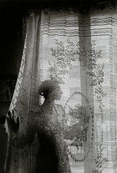 #Vintage style #photography - Behind the curtains