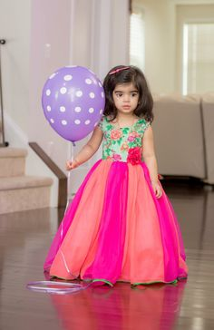 so want this for my niece Baby Birthday Dress, Baby Girl Party Dresses, Dresses Kids Girl, Kids Outfits, Kids Indian Wear, Kids Ethnic Wear, Kids Dress Wear, Kids Gown, Kids Wear