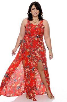 79fb876fd Vestido Plus Size Bylena | Daluz Plus Size - Loja Online - Daluz Plus Size