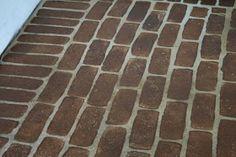 faux brick, brick floor, stain brick, virginia hous, paint, concrete floors, faux stain, front porches, floor tutori