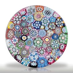 Peter McDougall close packed complex millefiori paperweight.(279) images