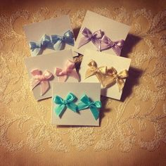 Satin Bow stud earrings via WishStrings. Click on the image to see more!