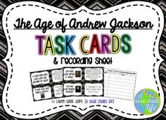 George Washington, John Adams, and the Federalist Era Task Cards and Recording Sheet for Student ResponsesIncluded in this resource: Cooperative Learning Activities, Learning Stations, John Adams, Andrew Jackson, Differentiated Instruction, Recording Sheets, Important People, Vocabulary Words, George Washington