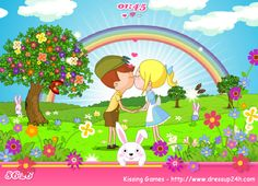 Sweet Valentine Kissing Game Free Girl Games, Games For Girls, Kissing Games, Disney Games, Color Games, Cooking Games, Up Game, Doll Maker, Fashion Games