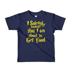 I Solemnly Swear That I Am About to Get Food kids t-shirt