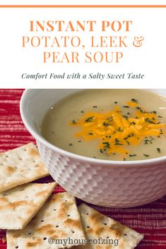 The perfect comfort food. salty, sweet, creamy goodness in a steaming bowl. Can it get any better than that? Best Pressure Cooker Recipes, Mulligatawny, Leek Soup, Best Instant Pot Recipe, Sweet And Salty, Soup Recipes, Yummy Recipes, Soups And Stews, Food To Make