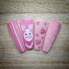 933 Likes, 18 Comments - Tia Murphy-Rowe Disney Acrylic Nails, Best Acrylic Nails, Shabby Chic Nails, Disney Inspired Nails, Holloween Nails, Unicorn Nails Designs, Nail Drawing, Cute Acrylic Nail Designs, Kawaii Nails