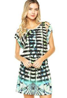 Vestido Sommer Estampado Multicolorido