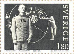 """Sweden 1kr80ö """"Music in Sweden"""" 1983. """"Opera"""" Czeslaw Slania sc."""