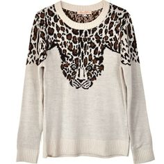 The Mara Hoffman leopard knit sweater... So cozy