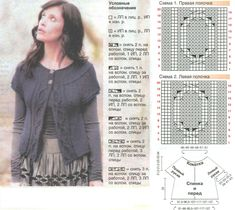 схемы вязания круглой кокетки спицами — Рамблер/картинки