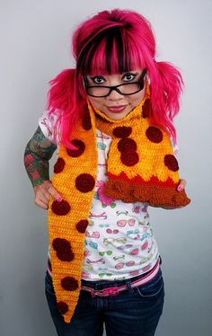 Pepperoni Pizza Scarf Made To Order by TwinkieChan on Etsy - StyleSays