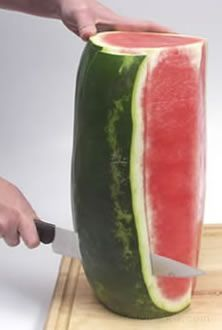 Easiest way to cut a watermelon Never thought of this, will have to try it.