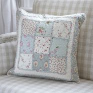 Patchwork pillow - this could be made with any combination of paterns and colors from your stash.
