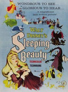 Sleeping Beauty VIntage Poster