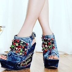 sexy chunky heels, material denim,    wear it to the party or casual occasion to look glamorous    size 34-40    Worldwide shipping available | Shop this product here: http://spreesy.com/fashionister_fashionista/54 | Shop all of our products at http://spreesy.com/fashionister_fashionista    | Pinterest selling powered by Spreesy.com