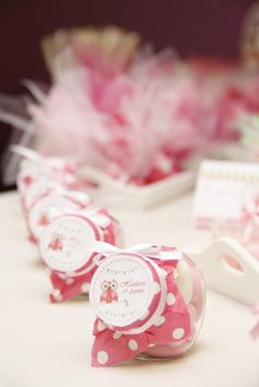 Favors at a Owl Party #owl #partyfavors