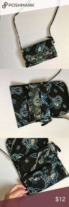 "Printed Travel Bag Cross body travel bag. I used it to store jewelry and cards while traveling. Tons of compartments. Used but no flaws to note. This is from a boutique. About 21"" strap length (not adjustable)and 8"" W 5"" H. Bags Crossbody Bags"