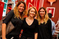 Eva Hernández (Piazza Comunicación), Maria Attilia (PR Manager De Rigo) y Esther Hernández (Piazza Comunicación) en la fiesta #CHMenEyewear