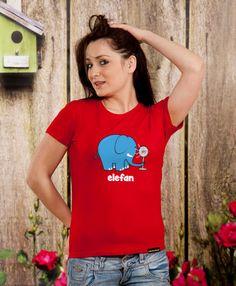 Elefan TShirt Ladies Gift Sister Gift Mom Gift by store365 on Etsy