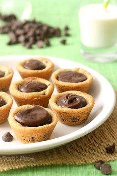 Fudge Filled Chocolate Chip Cookie Cups made from scratch are just what you need for any occasion, whether you need several dozen for Christmas or just a snack.
