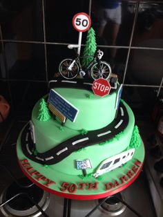 best ideas about Bicycle Cake Bicycle Cake, Bike Cakes, Dad Birthday Cakes, Cake Cookies, Cupcakes, Novelty Cakes, Cakes For Boys, Fondant Cakes, Creative Cakes