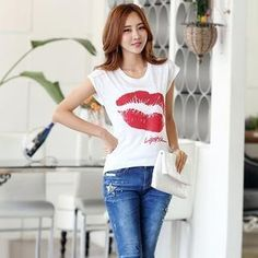 Buy 'Styleonme – Glittered Lip Pint T-Shirt' with Free International Shipping at YesStyle.com. Browse and shop for thousands of Asian fashion items from South Korea and more!
