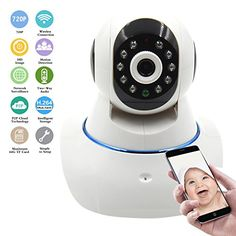 Wireless IP Camera, WiFi Security Camera HD 720P Surveillance Network camera Baby Video Monitor Pan/Tilt/ Night Vision with 2 Way Audio Remote Home Monitoring - $56.89