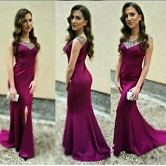 Charming Prom Dress,Mermaid Prom Dress ,Beading Prom Dress,V-Neck
