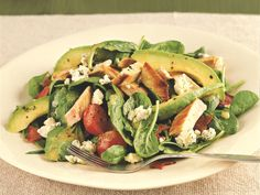 Turkey Avocado Cobb Salad http://www.prevention.com/food/cook/20-low-calorie-salads-that-wont-leave-you-hungry/slide/4