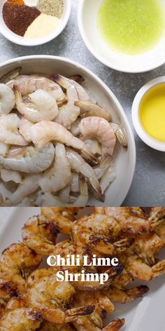 This Chili Lime Shrimp is an easy paleo, Whole30 and gluten free dinner that's made in only 20 minutes! A delicious, healthy meal thats super versatile. Use them in tacos, wraps, salads or lettuce wraps! #paleo #whole30 #glutenfree #grilling Clean Eating Guide, Clean Eating Recipes, Healthy Eating, Seafood Dishes, Seafood Recipes, Chili Lime Shrimp, Healthy Grilling Recipes, Healthiest Seafood, Grilled Veggies