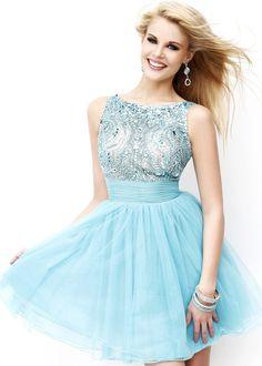 Gorgeous tropical blue dress