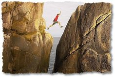 Making a leap with calculated risk, yet uncertainty.  Is that a form of faith?