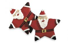 We thought it was so clever, the way Grandma transformed a simple star shape into a jolly Santa!