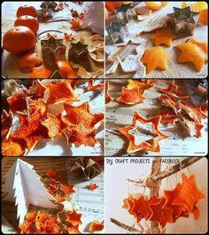 diy ornaments from orange peels
