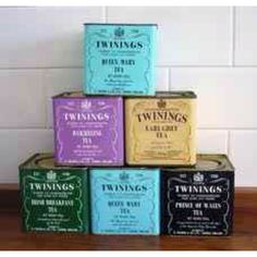 Twinings vintage cans