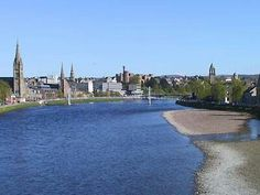 Inverness along river