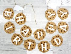 Milk and Cookies Birthday Banner - Happy Birthday - Birthday - Cookie Banner - Girl Birthday - Boy Birthday - Cookie Party - Milk & Cookies Birthday Party - Yorgo Spongebob Birthday Party, Happy Birthday Parties, 1st Birthday Girls, Happy Birthday Banners, Birthday Ideas, Happy Party, Birthday Bash, Cookie Monster Party, Milk Cookies