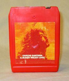 8 Track Tape Carlos Santana and Buddy Miles Live 1972